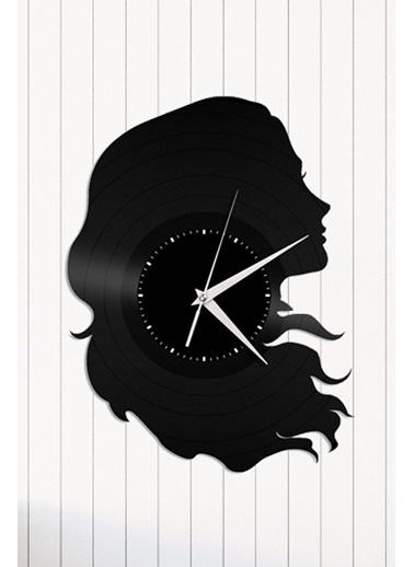 Angemiel Home Kadın Pleksi Duvar Saati Siyah